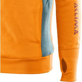 Aclima WarmWool Suéter con capucha Niños, amarillo